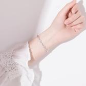 爆款熱銷手鍊925純銀水晶手鍊女新款韓版個性手鐲幸運首飾七夕禮物送女友聖誕節