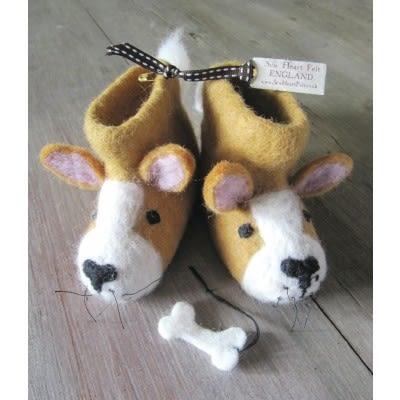【英國 sew heart felt】放牧小羊羊毛氈鞋 (嬰兒鞋/彌月禮)--柯基犬