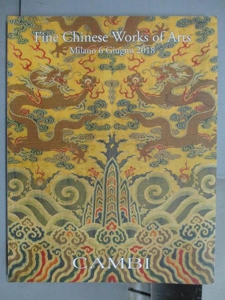 【書寶二手書T7/收藏_QKM】ASTA 345_Fine Chinese Works of Art_2018/Giug