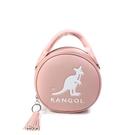 KANGOL 側背包 圓型包 手提 粉紅色 6055301141 noC20