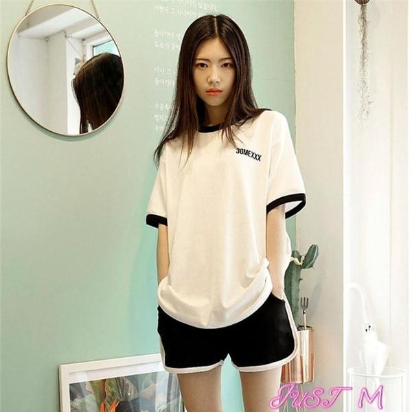 運動套裝閨蜜休閒運動服套裝女夏季2021新款韓版學生日系少女兩件套洋氣潮 JUST M