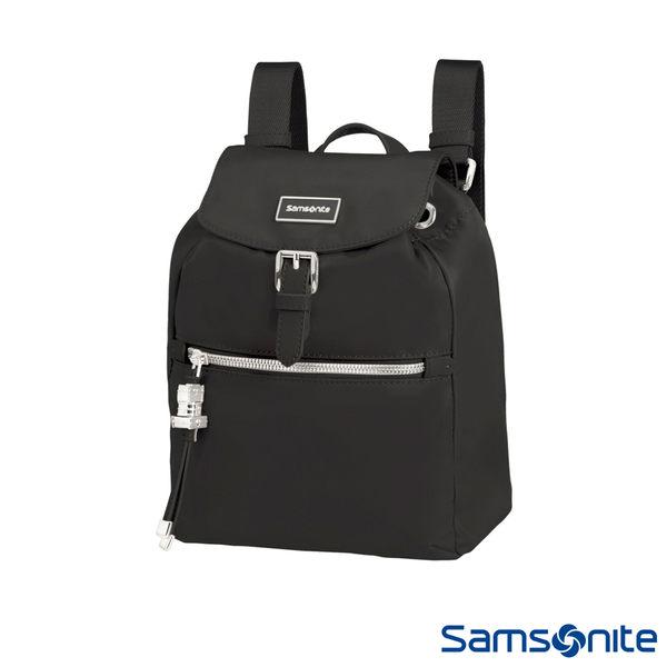 Samsonite新秀麗 KARISSA 經典時尚抽繩吊飾後背包XS(黑)