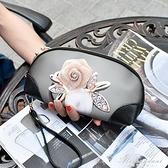 韓版彩繪女手拿包大容量手包塗鴉手抓包韓版印花手機貝殼小包錢包 黛尼時尚精品