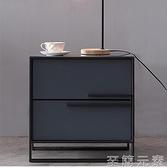 北歐輕奢創意床頭櫃 意式主臥時尚床邊櫃儲物櫃子簡約現代斗櫃WD 至簡元素