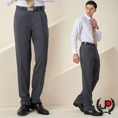 極品西服 商務質男仿毛條紋款雙褶西褲_灰白條(BS637-2)