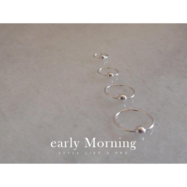 極簡925純銀 小圈圓球 耳骨環 男生耳環