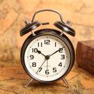 鬧鐘歐式復古鬧鐘金屬打鈴現代簡約創意個性學生懶人夜光床頭鐘