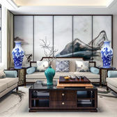 花瓶陶瓷器花瓶仿古青花瓷插花器新中式家居客廳飾品電視櫃擺件