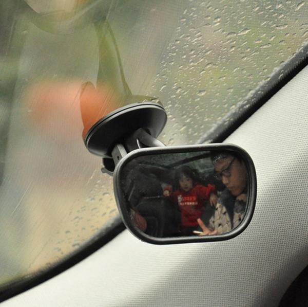 車內Baby鏡 後照鏡  廣角 高清 汽車用吸盤寶寶鏡 後排觀察 車內大視野鏡 車內後視鏡【4G手機】