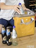 大號手提保溫便當包飯盒包復古加厚防水款便當袋可裝啤酒和紅酒 極有家