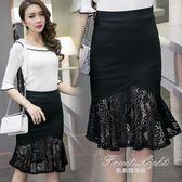 窄裙 包臂裙半身裙高腰春款氣質韓版百搭蕾絲職業顯瘦一步裙 果果輕時尚