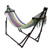 Toymock 折疊收納式吊床-正常版-Brown X Rainbow