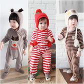 男寶寶 女寶寶 天鵝絨 動物造型 包腳連身衣 爬服 哈衣 Augelute Baby 37041