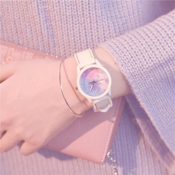 手錶 女生防水時尚款女新款小清新簡約大方白搭可愛中學生 - 歐美韓