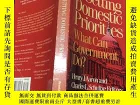 二手書博民逛書店Setting罕見domestic priorites what