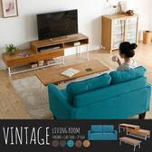 Vintage日系工業風客廳3件組(茶几+沙發+電視櫃)-2色 / H&D 東稻家居