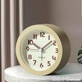北歐風格簡約靜音小鬧鐘創意臥室時鐘學生用專用兒童夜光床頭鐘錶 蘇菲小店