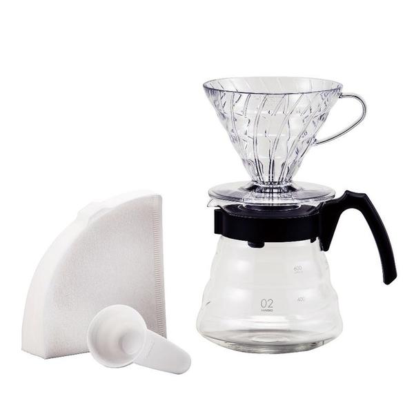 【沐湛咖啡】HARIO V60手沖咖啡壺組 VCND-02B限量手沖套組 日本製 雲朵玻璃壺