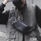 男士防水腰包個性胸包休閒小包戶外運動單肩斜背包韓版死飛騎行包 3C優購