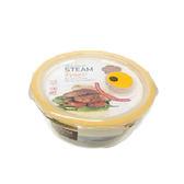 樂扣樂扣  輕鬆熱耐熱玻璃保鮮盒-圓形(950ml)【愛買】