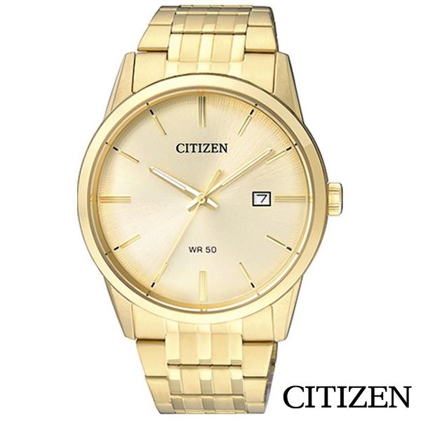 CITIZEN星辰 純粹流金歲月鋼帶石英男錶 BI5002-57P