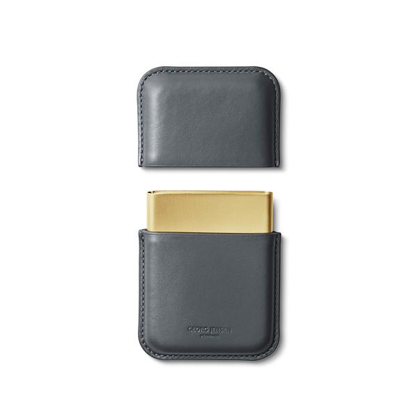 丹麥 Georg Jensen Rohner Business Card Holder, Shade Series 喬治傑生 陰影系列 皮革 名片盒