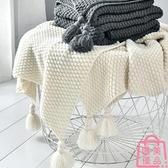 北歐沙發蓋毯午睡毯子流蘇針織球毛線休閑空調小毛毯【匯美優品】