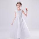 女童禮服 女童公主裙高端兒童主持生日禮服小女孩鋼琴演出服花童婚紗蓬蓬裙-Ballet朵朵