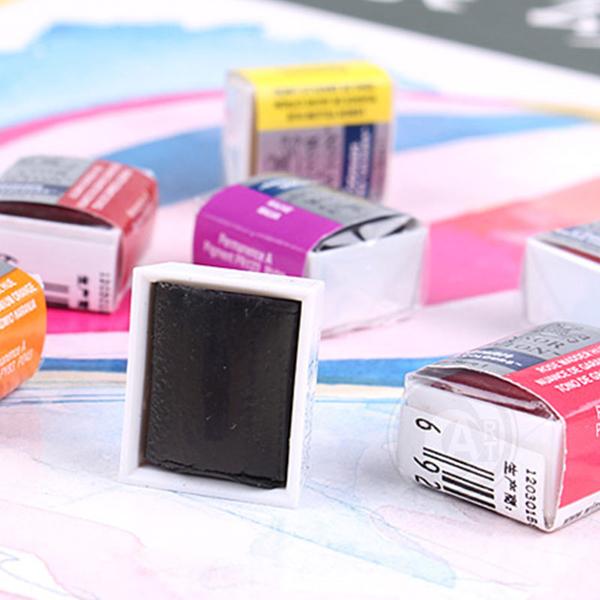『ART小舖』Winsor&Newton 溫莎牛頓 Cotman歌文水彩系列 塊狀水彩(半塊) 黃紅紫藍色系 單塊