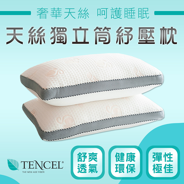 台灣製 蘭精天絲 五星飯店御用 獨立筒枕頭 枕頭