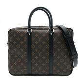 【台中米蘭站】全新品 Louis Vuitton PORTE-DOCUMENTS VOYAGE 小號手提/公事包(M52005-咖)