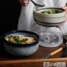 餐盒 日式陶瓷泡面碗帶蓋碗宿舍用學生單個大號便當飯盒碗家用碗筷套裝 小明同學