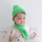 寶寶保暖套裝男童帽子圍巾兩件套兒童冬天圍脖女童韓版兒童毛線帽