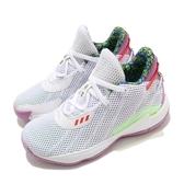 adidas 籃球鞋 Dame 7 J 白 紫 童鞋 中童 玩具總動員 巴斯光年 運動鞋【ACS】 FY4929