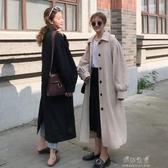 秋裝韓版新款中長款氣質翻領單排扣超火網紅長袖風衣外套女裝 伊莎公主