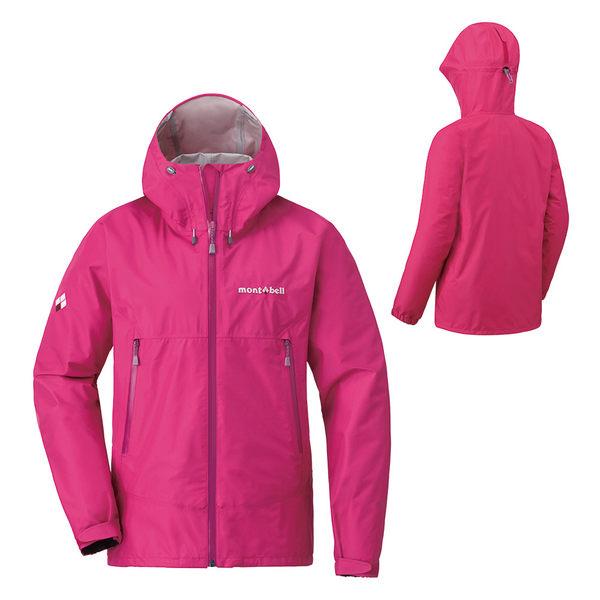 [好也戶外]mont-bell Rain Dancer Jacket女款連帽風雨衣/桃粉紅 No.1128619-CMPK