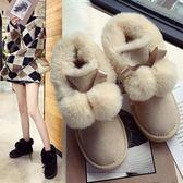 雪地靴 雪地靴女正韓毛球雪地靴棉鞋女冬 加絨刷毛可愛保暖鞋子女冬 酷我衣櫥
