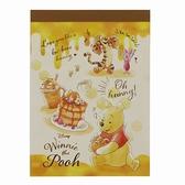 小禮堂 迪士尼 小熊維尼 日製 迷你便條本 便條紙 便箋本 備忘錄 (黃棕 鬆餅) 4901770-64076