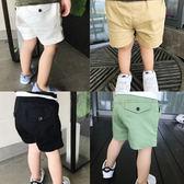 2018夏季男童休閒百搭短褲嬰兒寶寶可開檔褲子兒童純色半褲1-4歲【快速出貨八折一天】