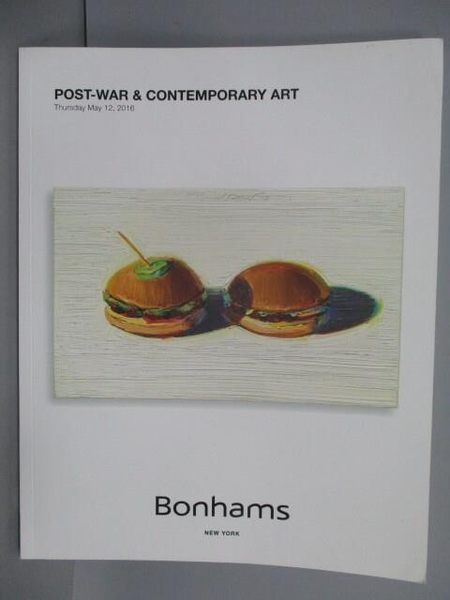 【書寶二手書T1/收藏_QNG】Bonhams_Post-war & Contemporary Art_2016/5/12