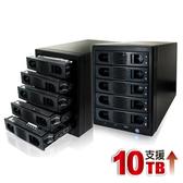 伽利略 USB3.0 + eSATA 1至5層抽取式硬碟外接盒 (35D-U3ES5R)