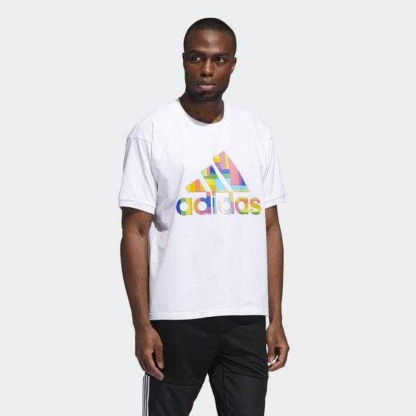 Adidas Pride 男款白色短袖上衣-NO.GK1582