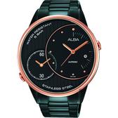 ALBA 雅柏 街頭酷玩家二地時間手錶-鍍黑/45mm DM03-X002SD(AZ9012X1)