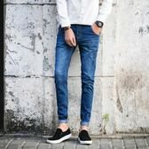 牛仔褲男 牛仔褲男生青少年修身型男褲小腳休閒加厚褲子男士 米蘭街頭