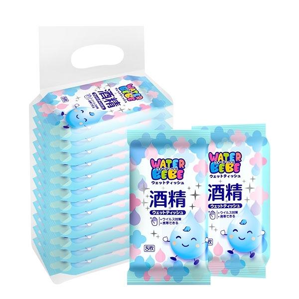 水滴貝貝 酒精濕巾8抽x12包/袋