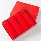 男士內褲 2021本命年純紅色款純棉平角褲大紅色男士紅內褲【快速出貨八折搶購】