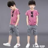 男童套裝-男童夏裝套裝2021新款兒童帥氣兩件套中大童夏季童裝男孩夏天潮裝
