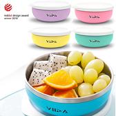 台灣 VIIDA Soufflé 抗菌不鏽鋼餐碗 附矽膠上蓋 學習餐具 寶寶淺碗 0015 好娃娃