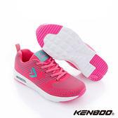 KENBOO(女)- 流星雨 氣墊大底透氣運動鞋-粉