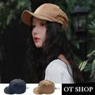 [現貨]帽子 素色純棉老帽 工裝帽 帽圍可調 透氣內裡 可折疊軟帽檐 文青配件 黑/卡其 C2109 OT SHOP
